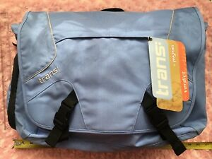 Trans by Jansport Baby Blue Big Messenger New with Tags