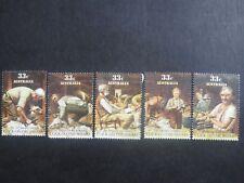 Australia Folkore Click go the Shears 1986 - Set of 5 - Good Used Condition