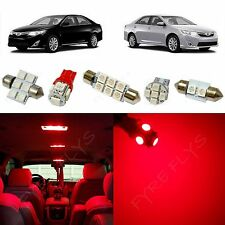12x Red LED lights interior package kit for 2012-2015 Toyota Camry TC5R