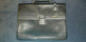 TUMI Astor Dorilton Slim Flap Black Leather Briefcase