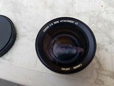Canon C-8 C8 C 8 Wide Attachment 43mm Weitwinkel Converter