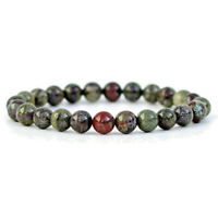Dragon Blood Gemstone Bracelet 8mm Round Natural Stone Beads