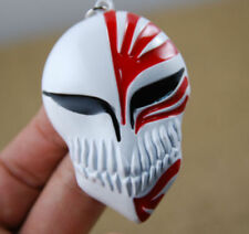 Bleach Ichigo Kurosaki Mask Metal Alloy Keychain Key Ring Pendant Red and White