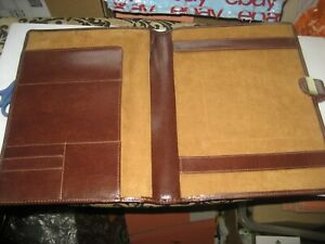 A BROWN LEATHER DULWICH DOCUMENT HOLDER 13 X 10  INCHES