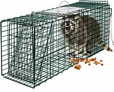 Humane Animal Trap 24x7x7 Steel Cage for Small Live Rodent Control Rat Squirrel