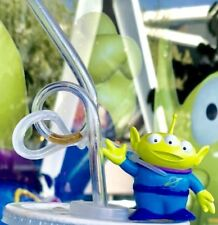 Disney Parks Pixar Toy Story Alien Little Green Men Clip and Straw