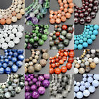 4mm 6mm 8mm 10mm Wholesale Lot Natural Stone Gemstone Round Loose Beads 15.5