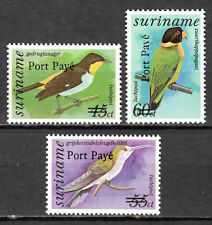 Suriname - 1994 Definitives birds overprinted -  Mi. 1472-74 MNH