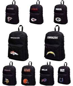 Licensed Full Size Student Sprint Black Backpack - Various Teams New