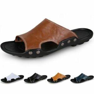 2021 men shoes casual outdoor flip flops non-slip black flat slippers 36-46 size