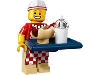 LEGO MINIFIGURES SERIE 17 MINIFIGURA VENDEDOR HOT DOG 71018 ORIGINAL 6