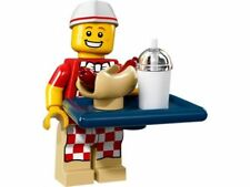 LEGO MINIFIGURES SERIE 17 MINIFIGURA VENDEDOR HOT DOG 71018 ORIGINAL 6