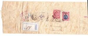 Mexico Sc#295,#300-WRAPPER-S.L.POTOSI JUL/?/1901-REGISTERED(Label)-WRAPPER