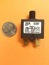 ETA Circuit Breaker AC240V, DC28V 20A, PUSH TO RESET, 1658-48
