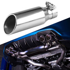 "2.5"" Stainless Steel Car Exhaust Muffler Tip Pipe with drain hole 3"" Outlet"