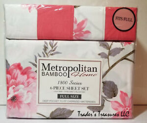 Metropolitan Bamboo Home Sheet Set Full Size Choose Your Style 1800 Series NEW