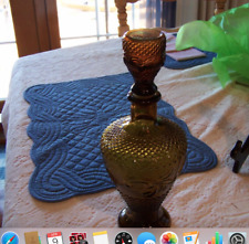 Amber Glass Decanter w / Stopper Made in Taiwan