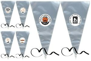 Halloween Sweet Cones, Thank You For Coming To My Party, Cello, Black Ribbon,