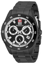 NEW Invicta 33479 Pro Diver 45MM Black Dial Swiss Quartz Black Bracelet Watch