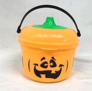 Vtg McDonalds McPunk'n  Pumpkin Bucket Halloween Trick-or-Treat Candy Pail 1986