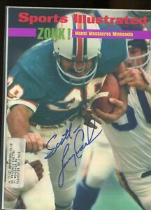 LARRY CSONKA MIAMI DOLPHINS SPORTS ILLUSTRATED signed autographed