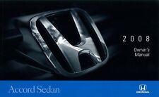 2008 Honda Accord Sedan Owners Manual User Guide Reference Operator Book Fuses