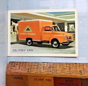 VINTAGE 1960s BEDFORD TJ DELIVERY VAN TRUCK AUSTRALIAN TRADING CARD EXC!!