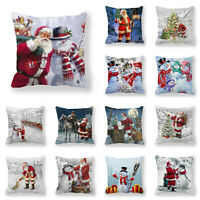 Cushion Snowman Pillow Cover Christmas Sell Hot Covers Sofa Decorative Case 3D