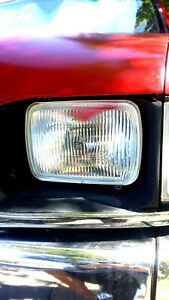 NEW 5 x 7 HOLDEN RODEO HEADLAMPS TF LT 1988 -2003 - GLASS & STEEL -WITH NEW LEDS