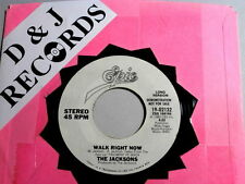 JACKSONS~WALK RIGHT NOW~RARE PROMO~VG++~EPIC 19-92132~~ SOUL 45