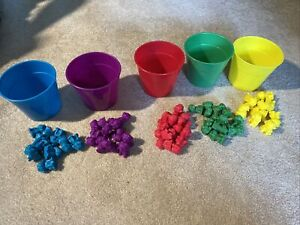 Rainbow Colored Counting Bears with Cups Sorting Educational Toys for Kids Stem