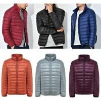 Men's Packable 90% Duck Down Jacket Lightweight Winter Coat Puffer Parka Outwear