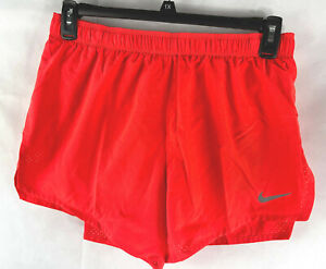 "Nike Fast Men's 4"" Running Shorts Crimson Red  CJ7847- 635 SIZE L brief liner"