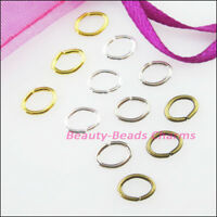 50 New Gold Dull Silver Bronze Plated Connectors 7x9mm Oval Jump Open Rings