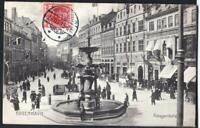 DENMARK  KOBENNHAVN  Old postcard AMAGERTORV TO PARIS YEAR 1910