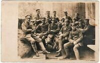 WW1 GERMAN PLATOON BUNKER WALL SHELTER WAR FRONT RPPC PHOTO POSTCARD