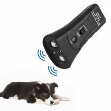 Ultrasonic Anti Dog Barking Pet Trainer LED Light Gentle Chaser Device New