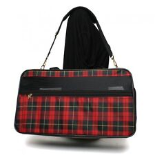 DOG CARRIER DESIGNER PET CARRIER MEDIUM TOTE BAG IN PLAID FOR PETS UP TO 16 LBS