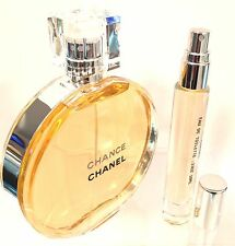 CHANCE CHANEL EDT TRAVEL ATOMIZER SPRAY DELUXE SAMPLE PERFUME .33OZ (10ML)