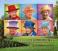 Union Island Gren St Vincent Royalty Stamps 2015 MNH Queen Elizabeth II 6v M/S