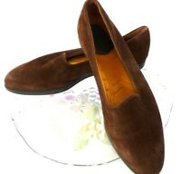 Rockport Womens Brown Suede Slip Ons Loafers Shoes sz 8.5 N Moccasins