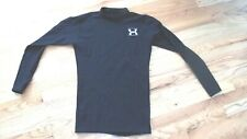 Under Armour Black Compression Moc Neck Long Sleeve Shirt Size: m-euc