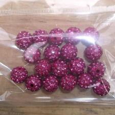 Grade AAA 100pc pave 10mm 5 row rose  Cezch  crystal Disco Shamballa  Beads