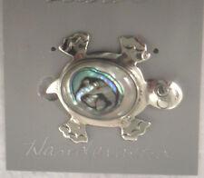 Pin/Brooch Turtle/Tortoise Abalone Shell Alpaca new happy