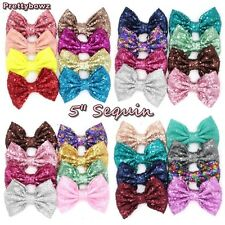 """5"""" Big Messy Glitter Sequin Novelty Bow Hair Alligator Clip Clips"""