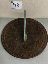 Vintage Virginia Metalcrafters Sundial Garden Ornament I Count Only Sunny Hours