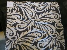 "Pottery Barn Wynnfield Paisley Print Pillow Cover 20"" Black Ivory New"