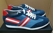 Chamaripa 6 cm Elevator Sport Casual Trainer Sneaker Shoes - Blue/Red - UK 7