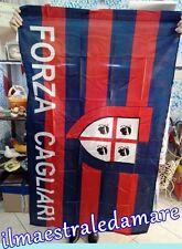 Bandiera Forza Cagliari Scudetto 4 mori Tifosi Forza rossoblu Squadre 90x150 cm