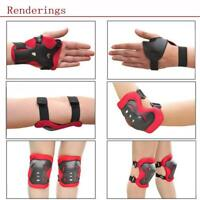 Kids And Teens Elbow Knee Wrist Protective Guard Safety Gear Pads Skate Bike D